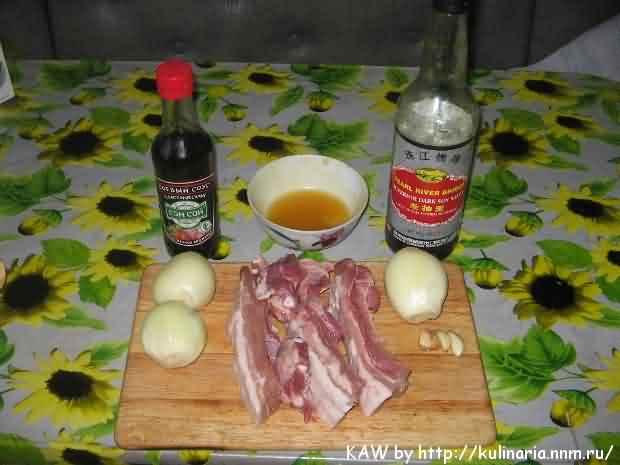 Свиные ребрышки с соевым соусом на сковороде рецепт